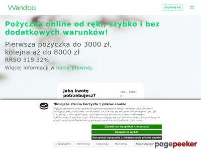 Wandoo.pl - pożyczki za 0 zł