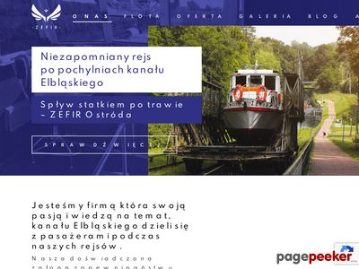 Żegluga po Elblągu - Zefir