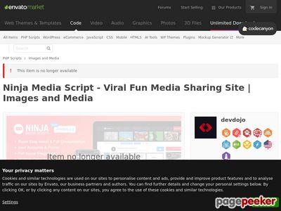 https://codecanyon.net/item/ninja-media-script-viral-fun-media-sharing-site/6822888?ref=sitedemo website snapshot