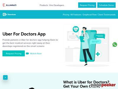 https://elluminatiinc.com/uber-for-doctors/ website snapshot