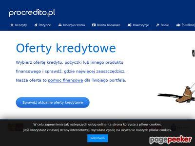 Pożyczki bankowe - Procredito.pl
