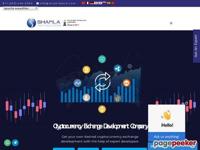 https://shamlatech.com/cryptocurrency-exchange-development/ website snapshot