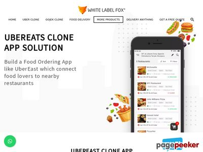 https://whitelabelfox.com/ubereats-clone-app/ website snapshot