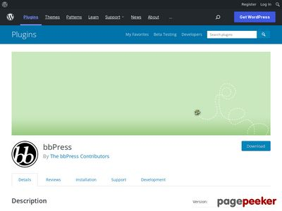 https://wordpress.org/plugins/bbpress/ website snapshot