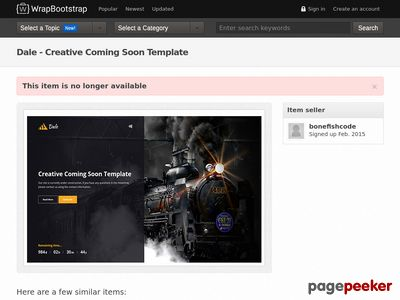 https://wrapbootstrap.com/theme/dale-creative-coming-soon-template-WB0CH749P?ref=scriptgiver website snapshot