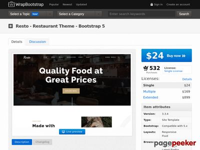 https://wrapbootstrap.com/theme/resto-multipurpose-restaurant-theme-WB0N3T496?ref=scriptgiver website snapshot