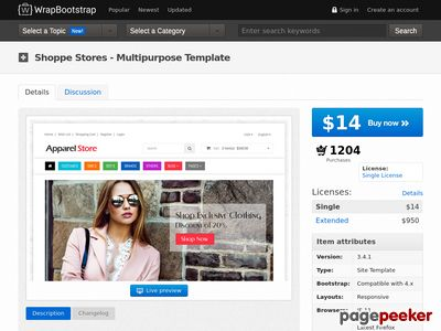 https://wrapbootstrap.com/theme/shoppe-stores-multipurpose-template-WB05481LT?ref=scriptgiver website snapshot