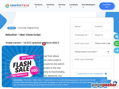 https://www.abservetech.com/uber-clone/ website snapshot