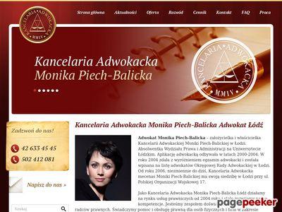 Adwokat Monika Piech Balicka Kancelaria Adwokacka