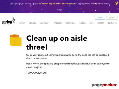 https://www.agriya.com/solutions/event-booking-solution#footer-enquiry website snapshot