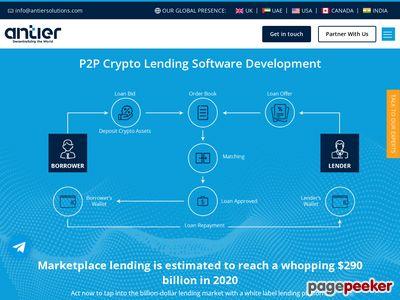 https://www.antiersolutions.com/p2p-lending-software-development/ website snapshot
