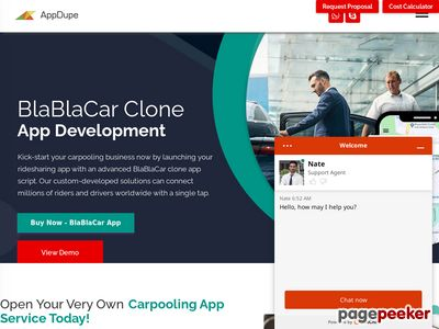 https://www.appdupe.com/blabla-car-clone website snapshot