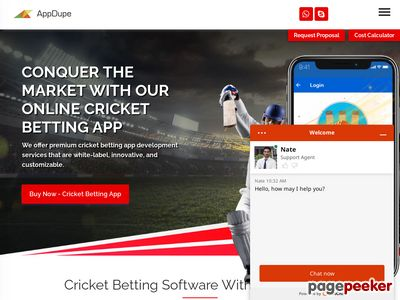 https://www.appdupe.com/cricket-betting-software website snapshot