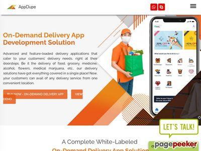 https://www.appdupe.com/delivery-app-development website snapshot