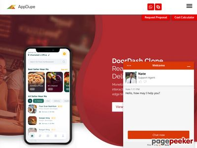 https://www.appdupe.com/doordash-clone#app-demo website snapshot