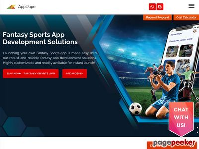 https://www.appdupe.com/fantasy-sports-app-development website snapshot