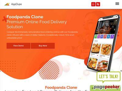 https://www.appdupe.com/foodpanda-clone-script website snapshot