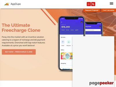 https://www.appdupe.com/freecharge-clone website snapshot