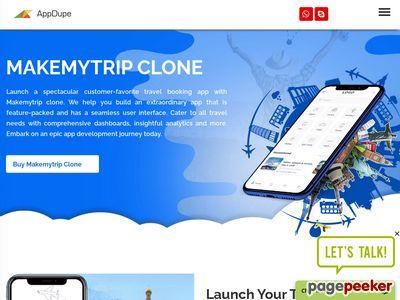 https://www.appdupe.com/makemytrip-clone website snapshot