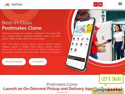 https://www.appdupe.com/postmates-clone website snapshot