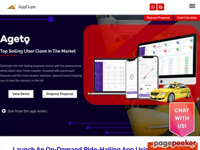 https://www.appdupe.com/uber-for-x-clone-script#app-demo website snapshot