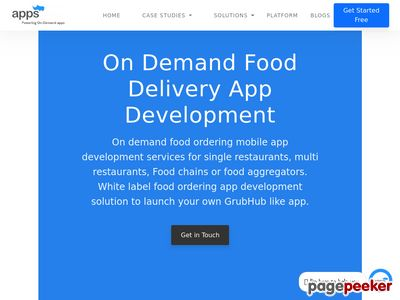 https://www.appsrhino.com/food-delivery-app-development/ website snapshot