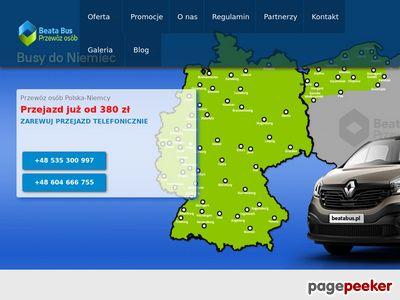 Beatabus busy do Niemiec na terenie pomorskiego województwa