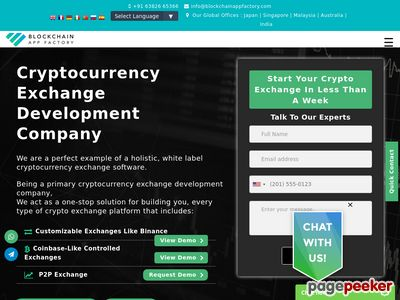 https://www.blockchainappfactory.com/cryptocurrency-exchange-software website snapshot