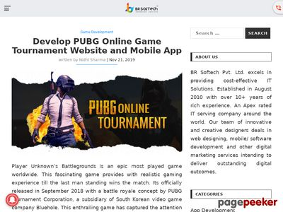 https://www.brsoftech.com/blog/pubg-game-tournament-app-website-development/ website snapshot