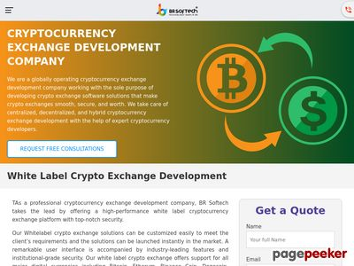 https://www.brsoftech.com/crypto-exchange-software-development.html website snapshot