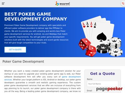 https://www.brsoftech.com/poker-game-development.html website snapshot