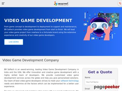https://www.brsoftech.com/video-game-development-usa.html website snapshot