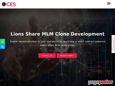 https://www.cryptocurrencyexchangescript.com/lion-share-mlm-clone-script website snapshot