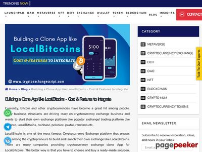 https://www.cryptoexchangescript.com/cost-and-features-of-localbitcoins-clone-app website snapshot