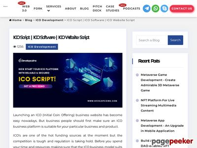 https://www.developcoins.com/ico-script-software-to-launch-your-ico-business-website website snapshot