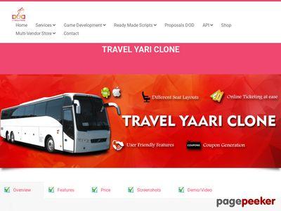 https://www.doditsolutions.com/travelyari-clone/ website snapshot