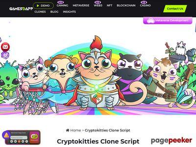 https://www.gamesd.app/cryptokitties-clone website snapshot