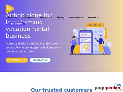 https://www.homestaydnn.com website snapshot