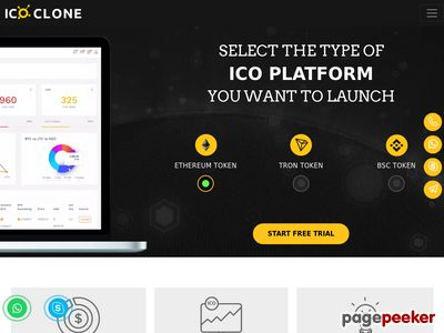 https://www.icoclone.com/ website snapshot