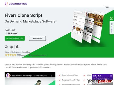 https://www.logicspice.com/fiverr-clone website snapshot