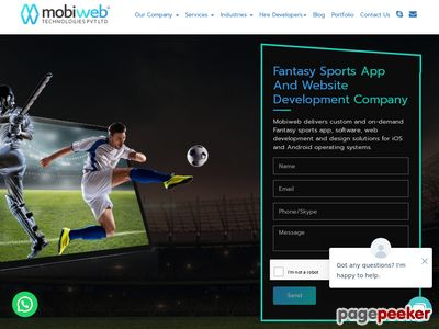 https://www.mobiwebtech.com/fantasy-sports-app-and-website-development/ website snapshot