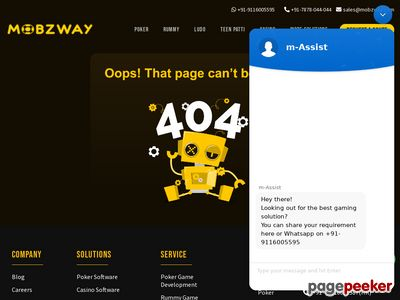 https://www.mobzway.com/game-studio/poker-game-development/ website snapshot