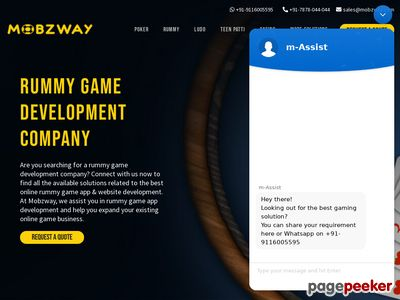 https://www.mobzway.com/rummy-game-development/ website snapshot