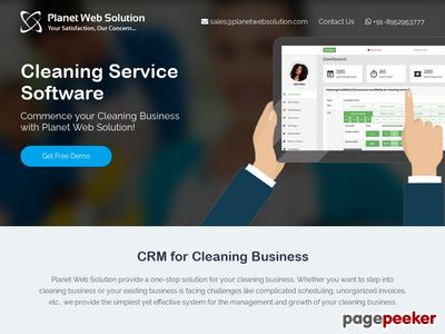 https://www.planetwebsolution.com/cleaning-service-software website snapshot