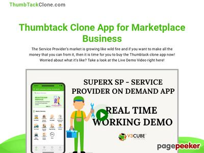 https://www.thumbtackclone.com/ website snapshot