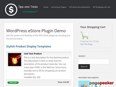 https://www.tipsandtricks-hq.com/ecommerce/wordpress-estore-plugin-demo-175 website snapshot