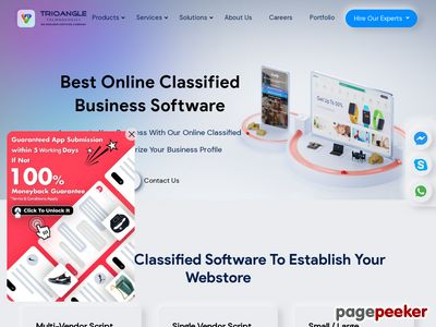 https://www.trioangle.com/online-classified-software/ website snapshot
