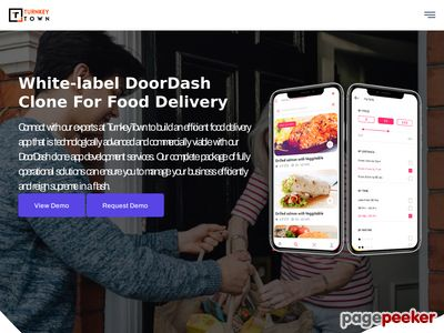 https://www.turnkeytown.com/doordash-clone website snapshot