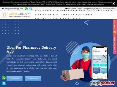 https://www.uberlikeapp.com/pharmacy-delivery-app website snapshot