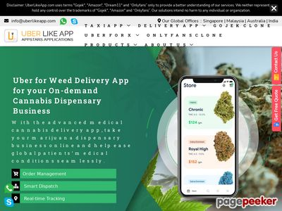 https://www.uberlikeapp.com/uber-for-weed website snapshot